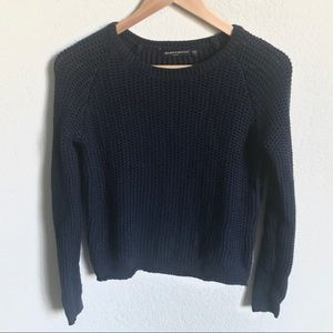 Brandy Melville navy Blue knit sweater one size